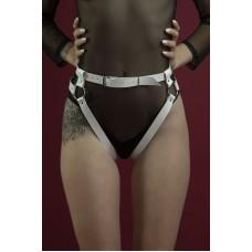 Гартеры Feral Feelings - Belt Briefs, трусики, натуральная кожа, цвет белый