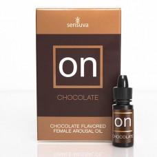 Возбуждающе капли для клитора Sensuva - ON Arousal Oil for Her Chocolate (5 мл) со вкусом шоколада
