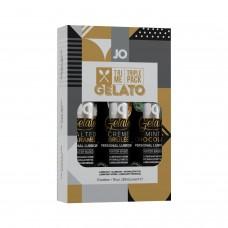 Набор System JO Tri-Me Triple Pack - Gelato (3 х 30 мл) три разных вкуса серии Джелато
